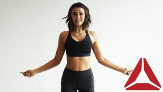 Nina Dobrev Plays 'This or That?' While Jump Roping | Reebok