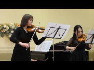 MVI_2061 - А.Л.Мендельсон. Трио для 2-х скрипок и фортепиано, часть 1.