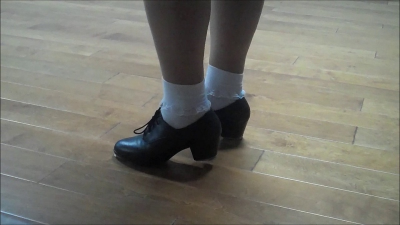 Cuban style tap shoes with white ruffle socks