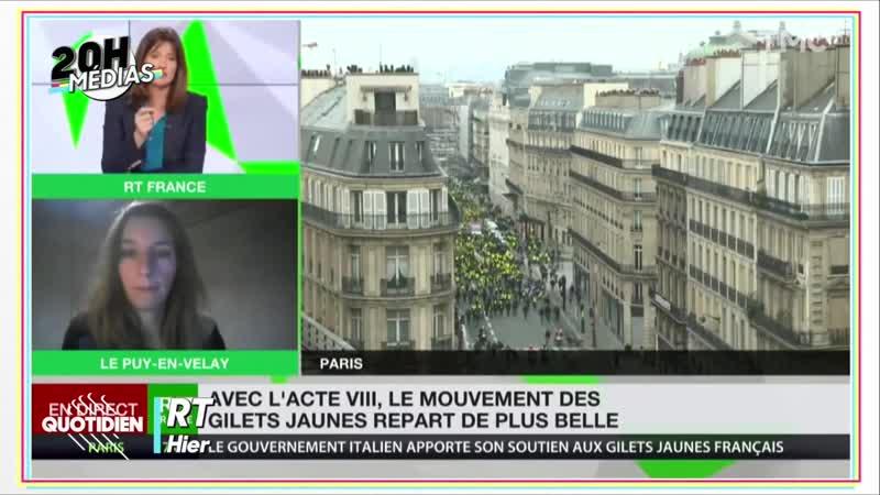 Quotidien: Brut, RT, Vincent Lapierre, les médias chouchous des gilets jaunes