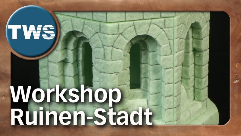 Special: Workshop Ruinen-Stadt / ruined city / Styrodur / Gerard Boom (Tabletop-Gelände, TWS)