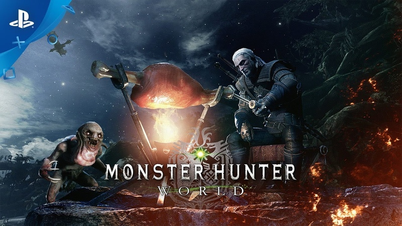 Monster Hunter World x The Witcher 3 Wild Hunt Available Now PS4