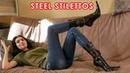 Nana's pointed toe steel high heels Gianmarco Lorenzi ankle boots Size EU 39 US 8,5