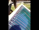 Homemade solar collector without circulation pump
