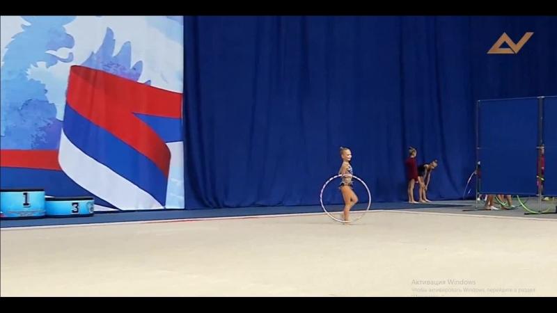 Соревнования по художественной гимнастике ЦС ФСОП «Россия»,Савина Марина,2010г, обруч