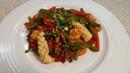 Диетический стир фрай с морепродуктами