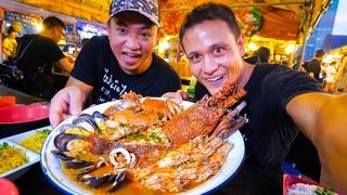 GIANT LOBSTER TOM YUM!! Insane Thai Street Food at Night Market in Bangkok, Thailand!