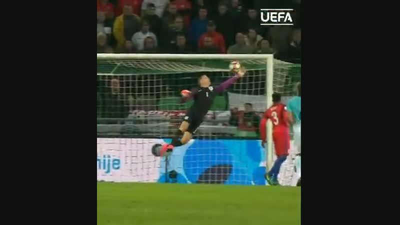 OnThisDay in 2016, England goalkeeper Joe Hart made THIS world-class reflex save - - TBT ThrowbackThursday @England 2