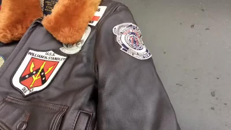 Женская куртка пилот Cockpit Top Gun.mp4