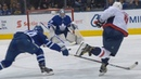 Alex Ovechkin scores to tie Sergei Fedorov for most points by a Russian player