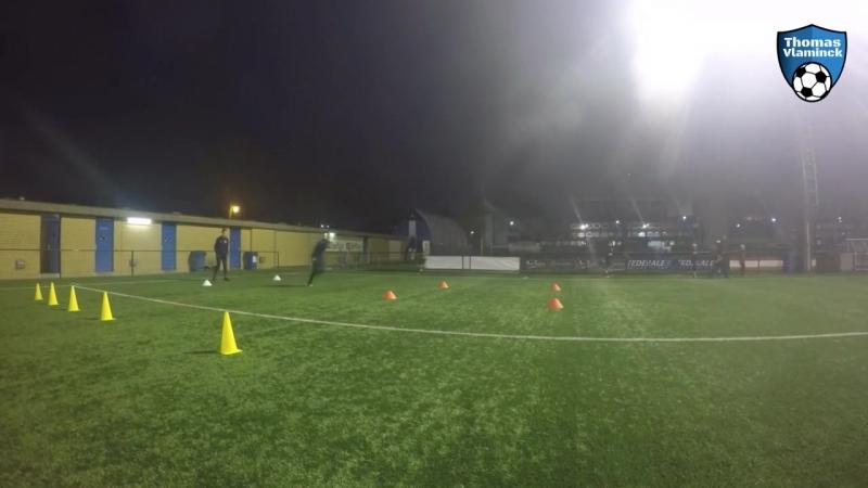 Technical passing drill _ football training _ U14 U15 U16 U17 U18 _ Thomas Vlaminck Techniektraining