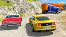 Против фуры не попрешь 20 тонн летит по дороге потеряв управление BeamNG аварии Игры для мальчиков