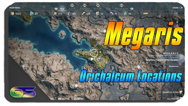 Assassins Creed Odyssey All Megaris Orichalcum Ore locations