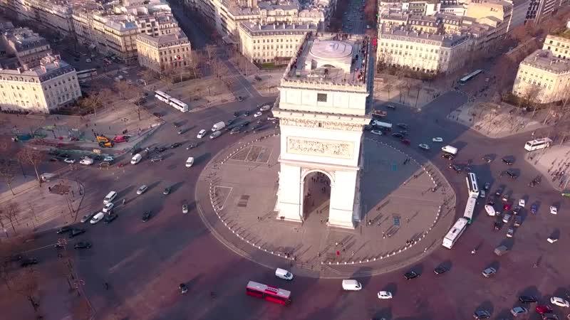 Arc de Triomphe by drone [4K] (720p).mp4