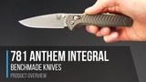 Benchmade 781 Anthem 20CV Titanium Integral AXIS Lock Folder Overview