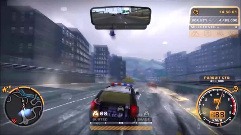 Need for Speed™ Most Wanted Black Edition - Уровень Погони с 7-9(Огней) на Машине RPD SUV