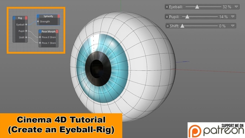 Create an Eyeball-Rig (Cinema 4D Tutorial)