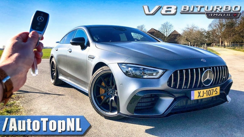 Mercedes-AMG GT 63 S 4Door REVIEW POV Test Drive on AUTOBAHN ROAD by AutoTopNL