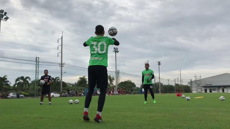 Training technical goalkeeper