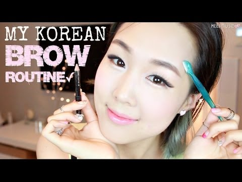 Easy Natural Korean Brows in 3 Minutes ♥ Shaping, Grooming, Drawing | 이쁜 눈썹 만들기 비법