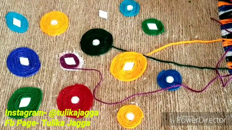 DIY Easy Jute Wall HangingHome decor Craft Jute nd Wools Art nd Craft Easy Crafttulikajagga