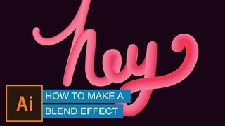 Create Advanced 3D Text with Blend Tool (effect)   Illustrator Tutorial   Hindi