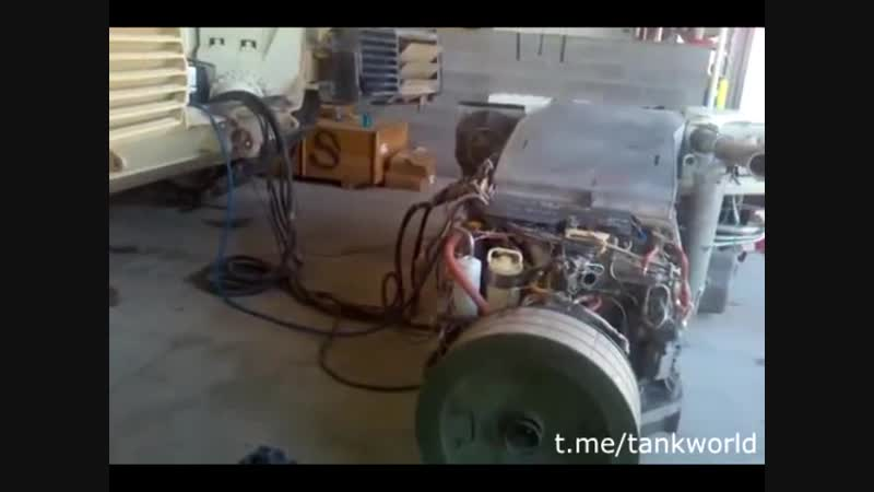Запуск движка М1А2