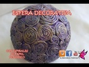Esfera decorativa con espirales de periodico Decorative spheres with newspaper spirals