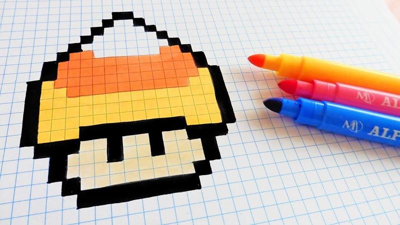 Halloween Pixel Art How To Draw Candy Corn Mushroom pixelart