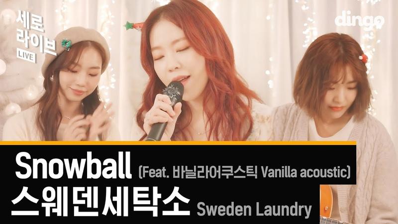 크리스마스 분위기 뿜뿜! 스웨덴세탁소 (feat. 바닐라어쿠스틱) - Snowball [세로라이브]