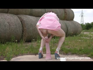 Dirtygardengirl - 2018-07-19 hay, horse cock and ass thet must be ruined, prolapse, anal fisting, dildo milf toys rosebutt, gape