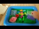 Набор кинетический песок KidSand Danko Toys 1,6 кг формочки