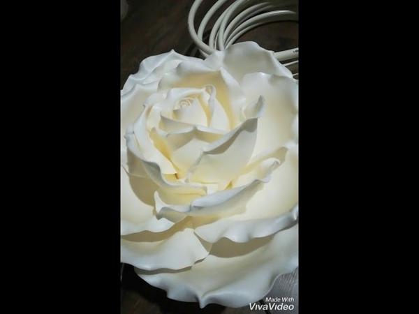 Бесплатный МК роза торшер из изолона высота 170 см