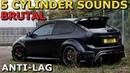 BRUTAL Ford Focus Mk2 ST/RS 5 Cylinder Compilation
