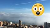 Ola de niebla gigante en Benidorm