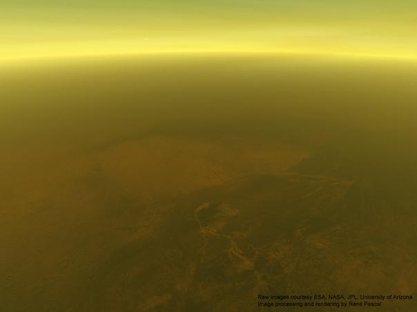 70 километров над поверхностью Титана (спутник Сатурна)