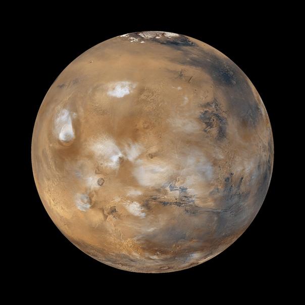 Облака на Марсе Процесс возникновения облаков на Марсе давно интересовал ученых дело в том, что в атмосфере Красной планеты нет достаточного количества воды. Вода в ней почти всегда может