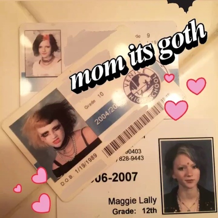 """Maggie Lally on Instagram: """"Just got my driver license/ID renewed but honestly I wish I could just get my sophomore high school ID as my new replac..."""