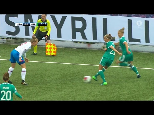 Frauenfussball WM 2019 Qualifikation Färöer Deutschland 1 Halbzeit