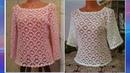 Ажурная блузка крючком Часть 4 МК для начинающих Openwork blouse for beginners