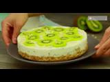 Торт без выпечки для любителей бананов и киви