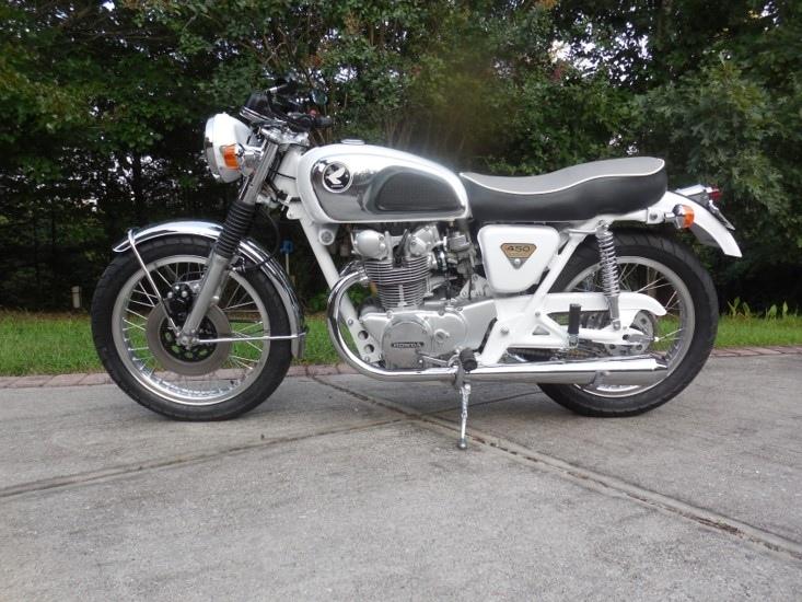 Chattahoochee Skunkworks: кастом Honda CB450 Sanitary White