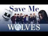 Save Me x Wolves BTS, Selena Gomez, Marshmallow (Mashup Video)