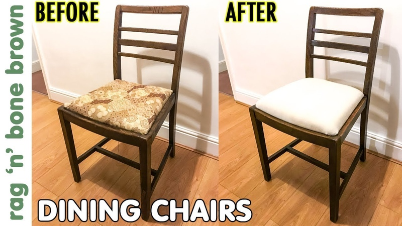 Dining Chairs Makeover Seat Pad Conversion