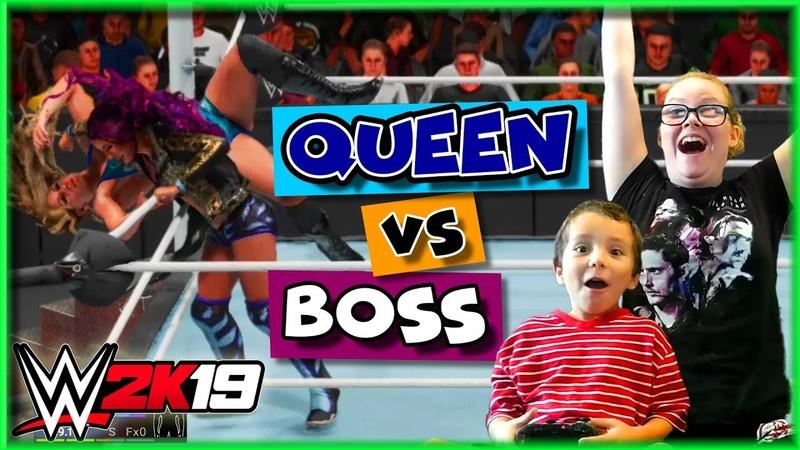 WWE 2K19 Sasha Banks vs Charlotte Flair (Boss vs Queen WWE 2K19 Gameplay)