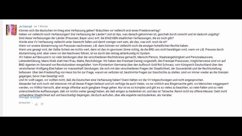Aufklärung über Verfassung für Alexander Wagandt und Jo Conrad