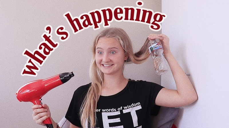 Curling my Hair in a Water Bottle (test)