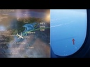 Airplane passenger captures an alien craft Fast Mover under the water