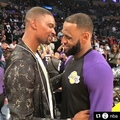 House of Highlights on Instagram LeBron and Bosh reunited.
