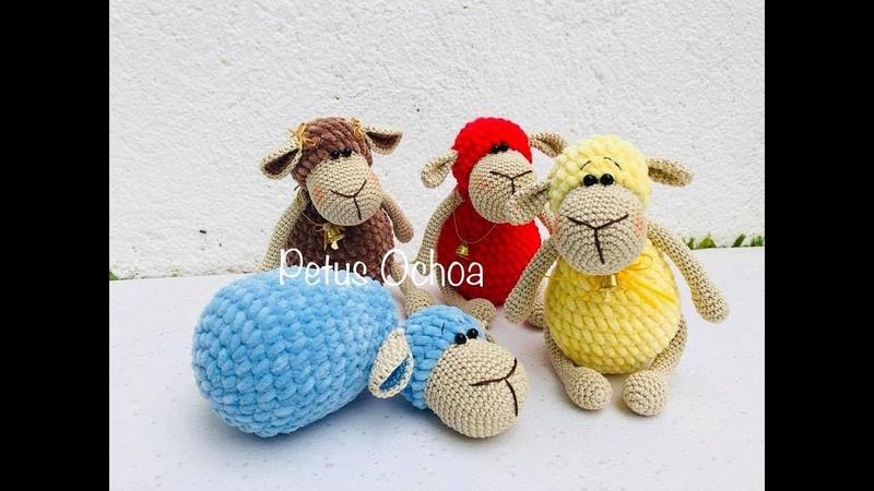 Borregos en crochet amigurumis by Petus 2a. parte (English subtitles)